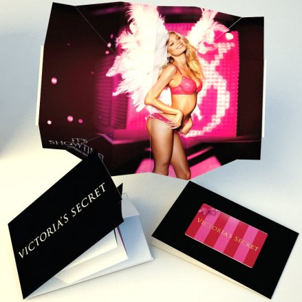 Victoria Secret Loyalty Mailer -exploding map with card