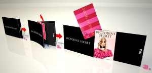 Victoria Secret Loyalty Mailer snapper - swing out card
